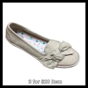 Other - Girls' Casual Bow Flat, Tan